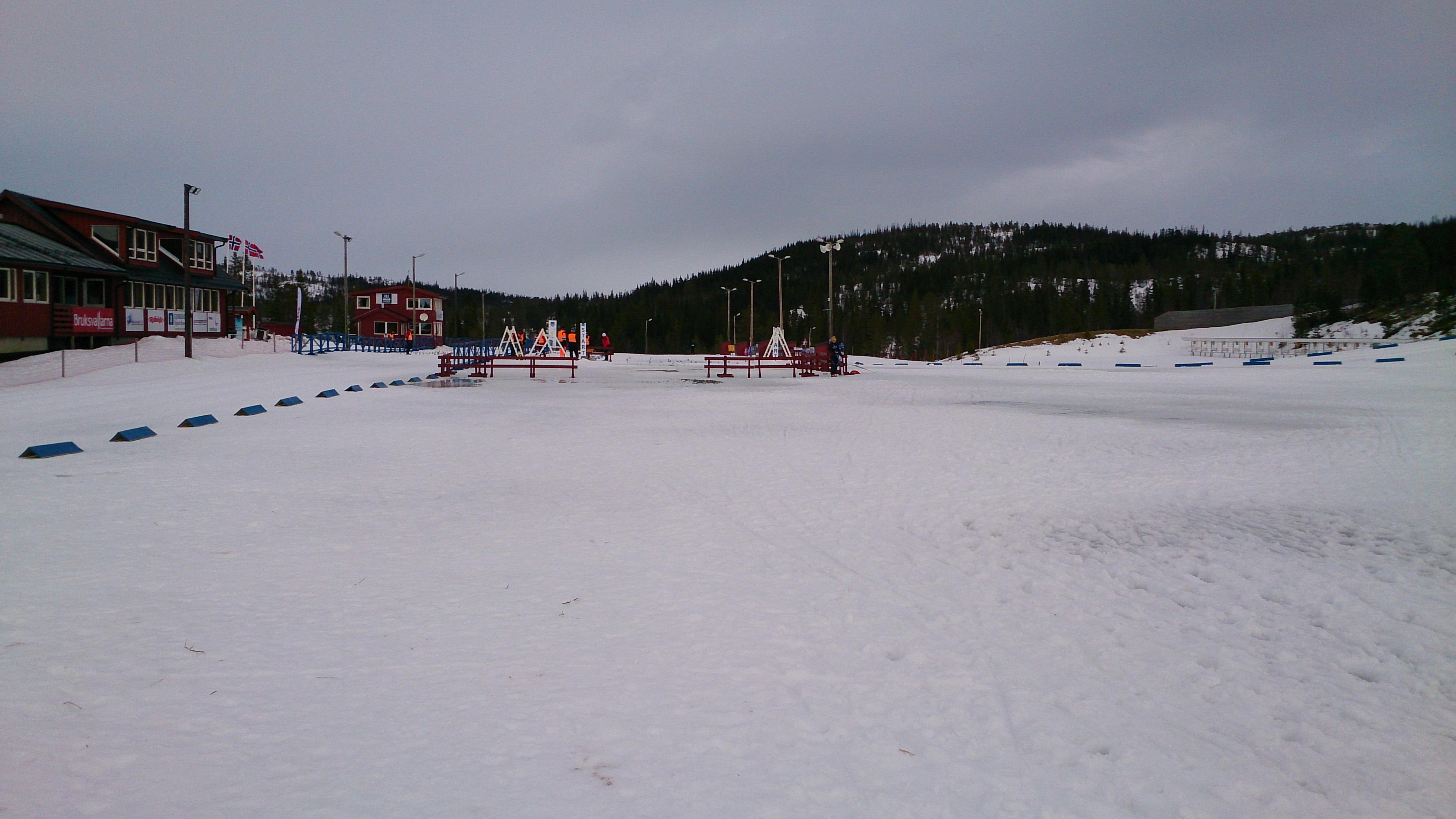 Stadionområdet.