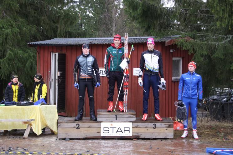 Tunaloppet 2016. Pallen H21 Adam Larsson (Falun-Borlänge SK) Måns Sunesson (Sellnäs IF) Gilberto Panisi (Team Dala Sports Academy IF) Tim Magnusson (IFK Mora SK)