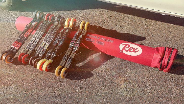 Roller skiing tävlingsrull