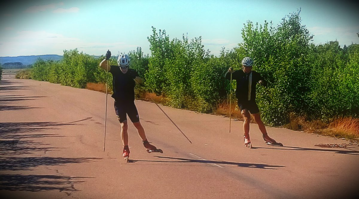 Rollerski sprint session