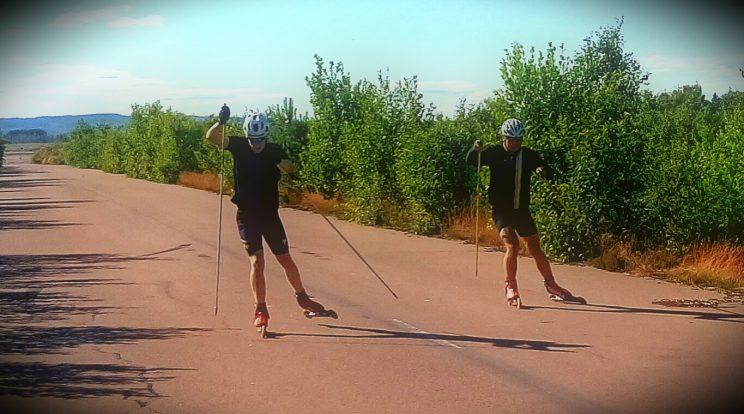 Rollerski sprint session Måns S vs. Jonatan Palander