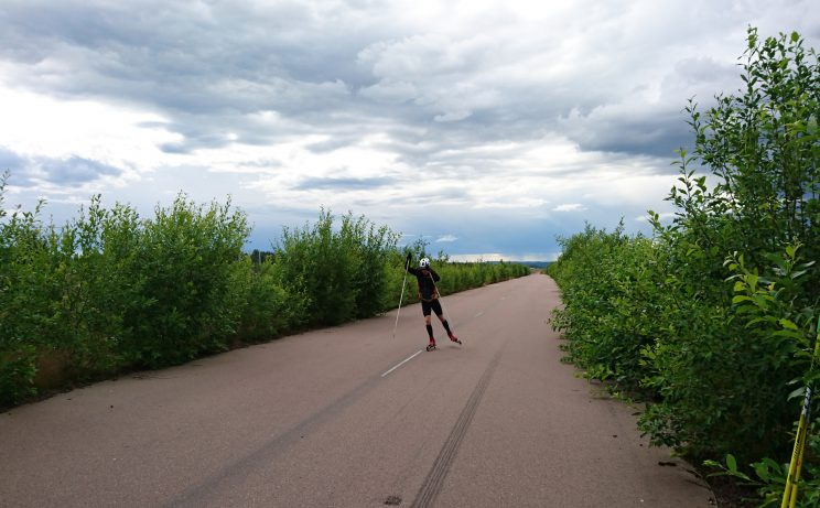 Roller skiing at Dala Airport