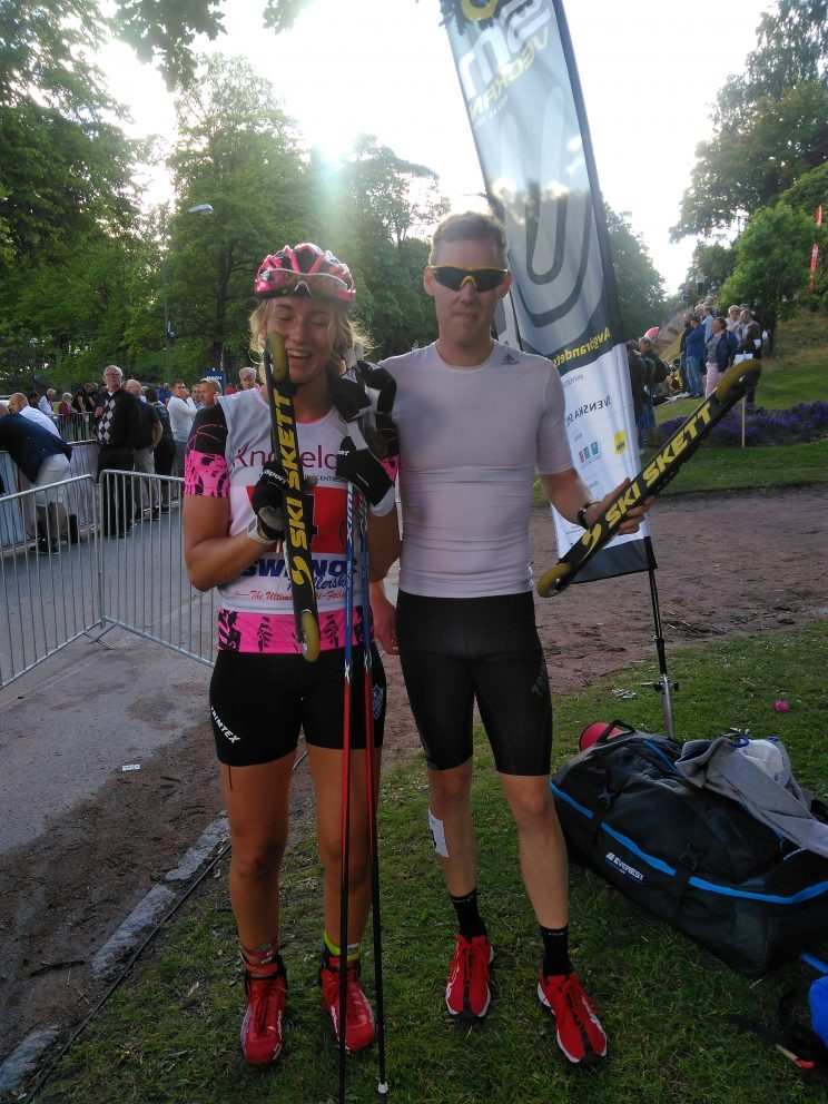 Rullskid-SM sprint 2017 Emma L and Måns Sunesson