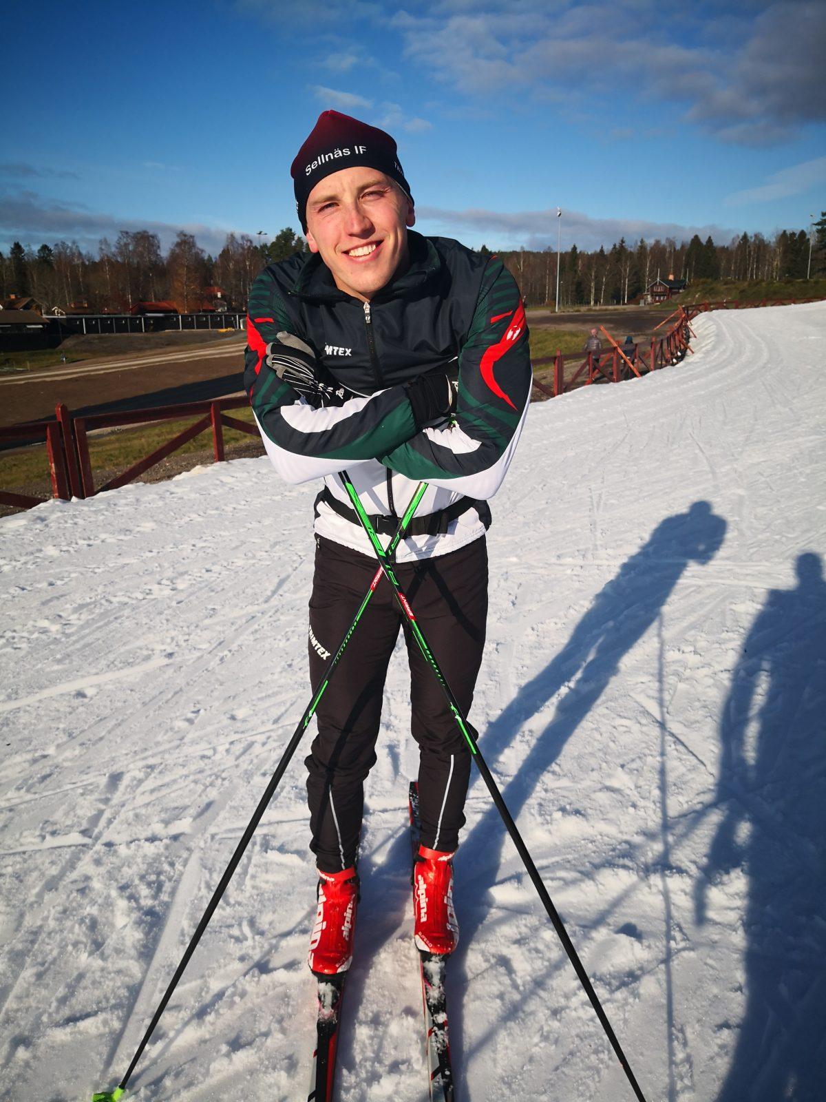 Snöpremiär med Oskar Lundqvist