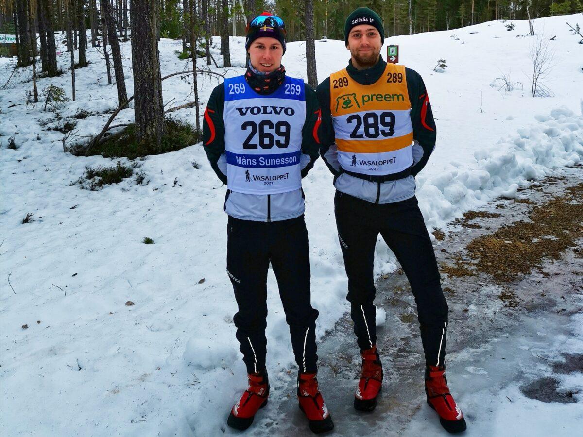 Vasaloppet elit 2021 Måns Sunesson och Alexander Mathisen